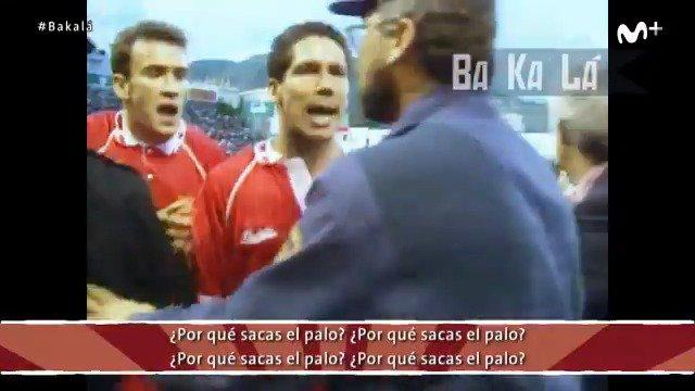 Redondo repartiendo estopa. Maradona expulsado. Simeone enfrentado a un policía... ¡Qué tiempos! #Bakalá