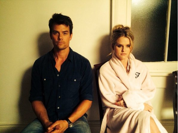 Happy Birthday Josh Duhamel!  *Alice Eve and Josh on the set Misconduct.
