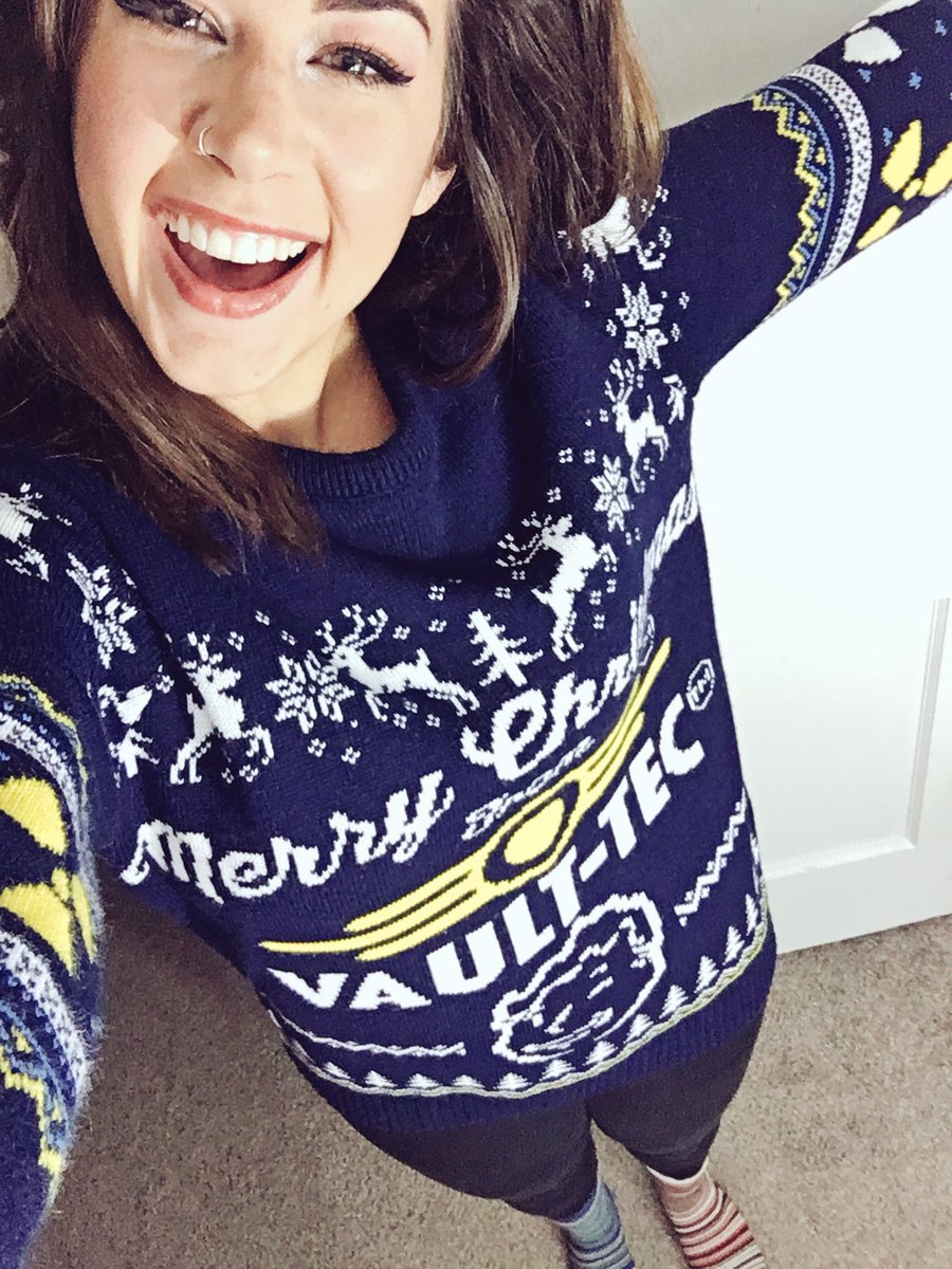 Vault Tec Christmas Sweater.Elspeth Eastman On Twitter Almost Merry Christmas From