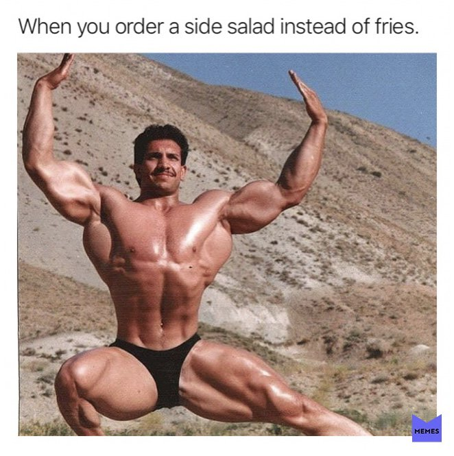 Also me: completely drown it in ranch dressing. (@memes)