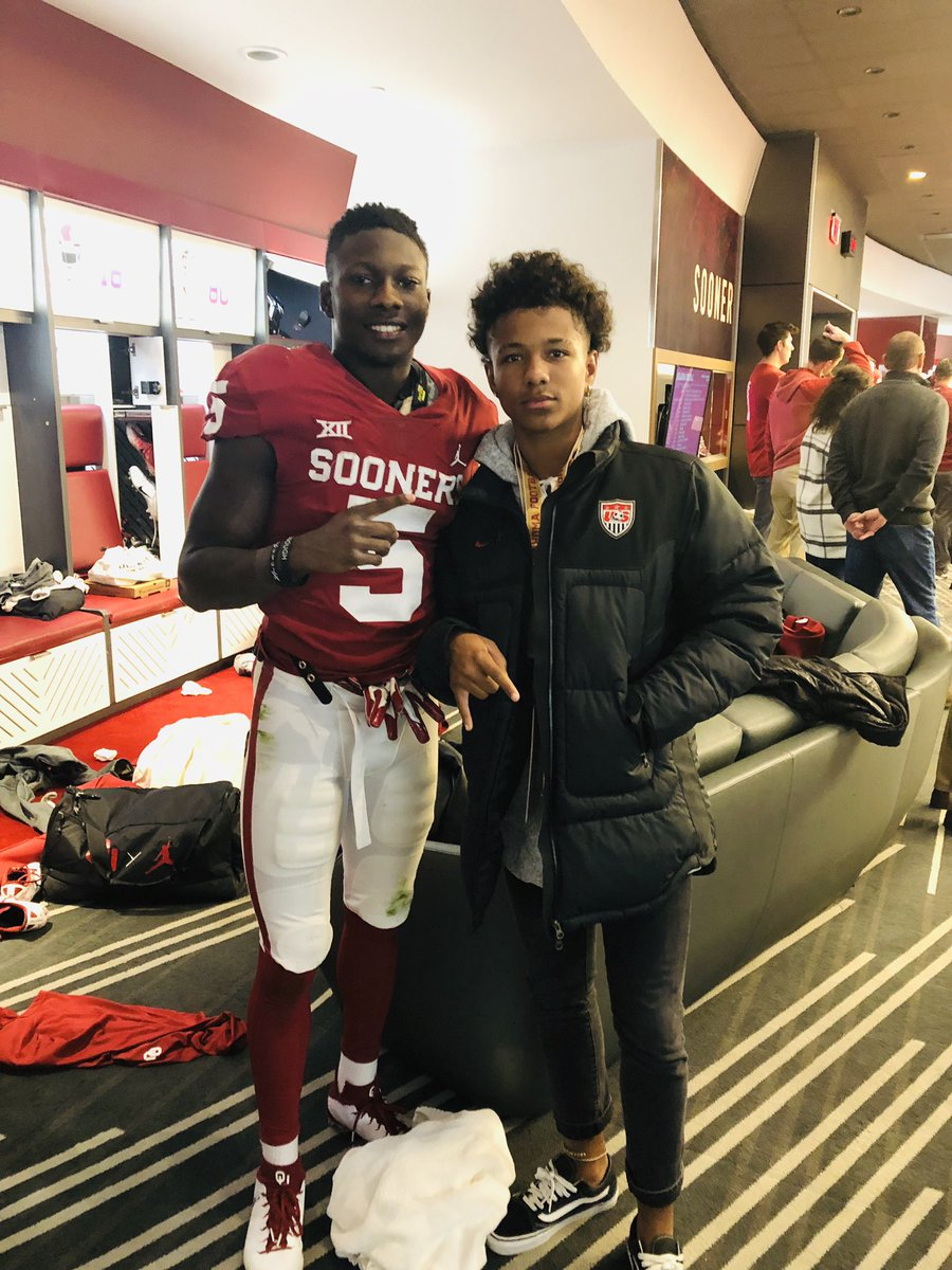 I guess you can say my Lil man @TakodaBridges got a taste of the good stuff last weekend in Norman on big brother Trejan's OV!! @Primetime_jet @_CeeDeeThree @TheKylerMurray @Mandrews_81 #BoomerSooner #OUDNA #KodaGotNext <br>http://pic.twitter.com/4t9YcdBYRT