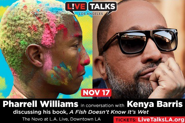 Hey LA, let's talk. This Saturday at the @TheNovoDTLA with @funnyblackdude, I'll be discussing my new book #AFishDoesntKnowItsWet. 👑🌈💫🌻🐠 Tickets here: https://bit.ly/2FnmIQG