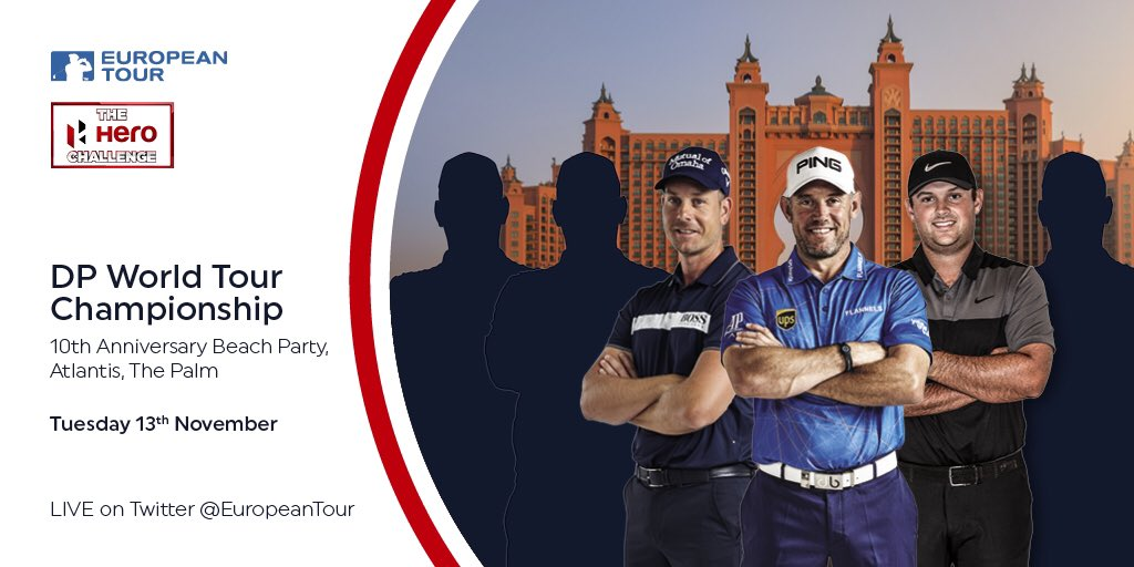 Kicking off the finale @DPWTC for the Race to Dubai with the #HeroChallenge It will be live on @EuropeanTour Twitter.