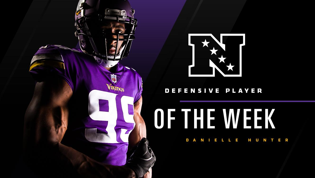 ������  @DHunt94_TX has been named NFC Defensive Player of the Week!   ��: https://t.co/nfQnrzUFYf https://t.co/6vY5UQPUKN
