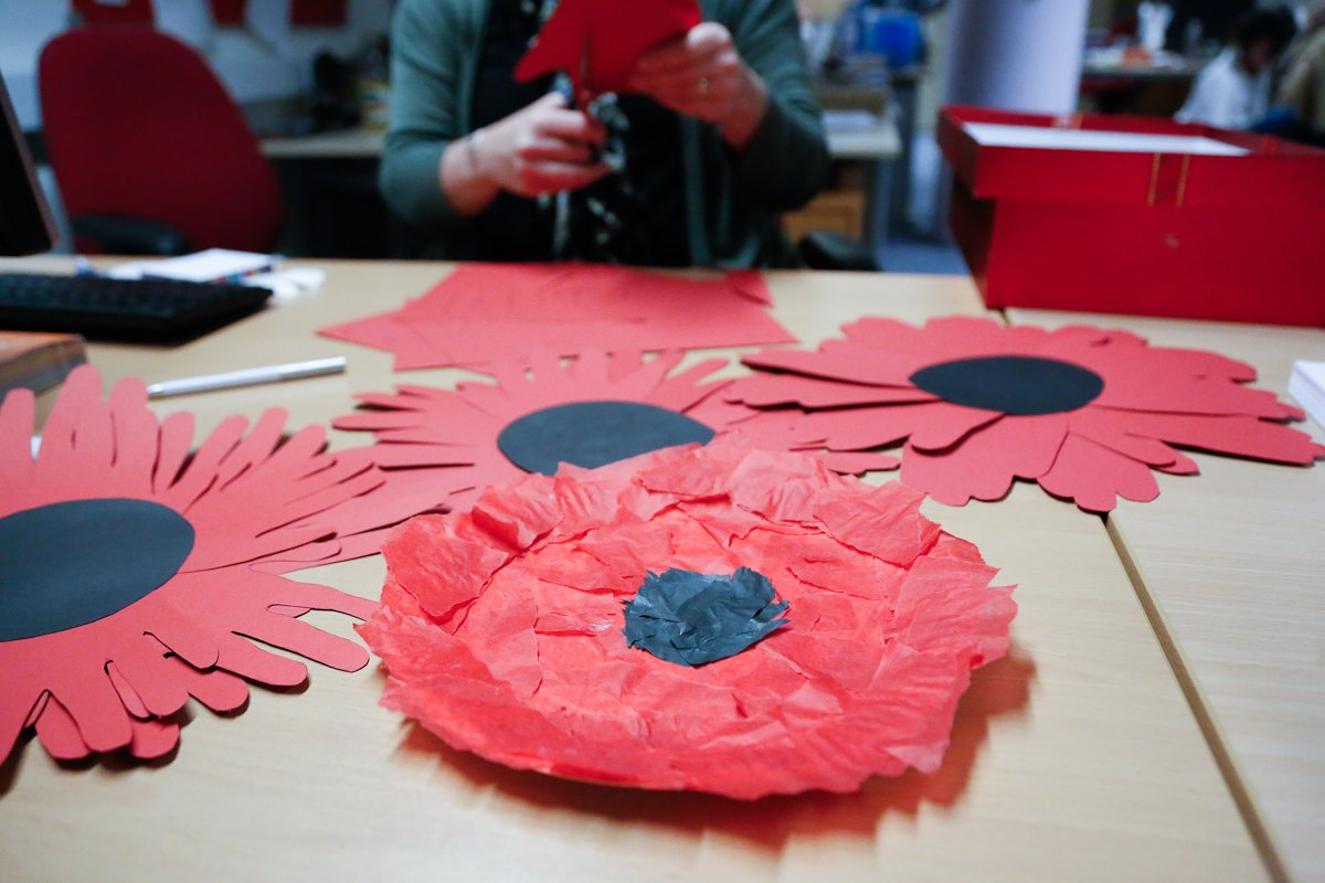 Handmade Poppies