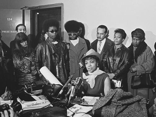 #RubyDee, the late actor & activist championed the #BlackPantherParty, spoke in support of Panther 21, at a press conference in 1969, during their trial for conspiracy & other charges for which they were all ultimately acquitted. http://bobbyseale.com/   #BobbySeale