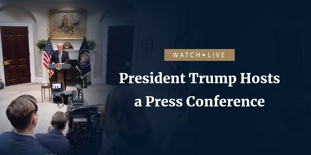 WATCH LIVE at 11:30 a.m. ET as President Trump hosts a press conference. https://t.co/EmsdctGWtd https://t.co/vnvq295X1V