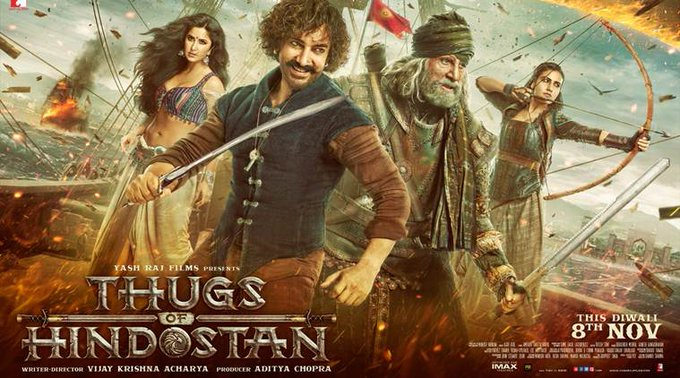 #ThugsOfHindostan opens in 7,000 screens WW Expected to set a new opening record Photo