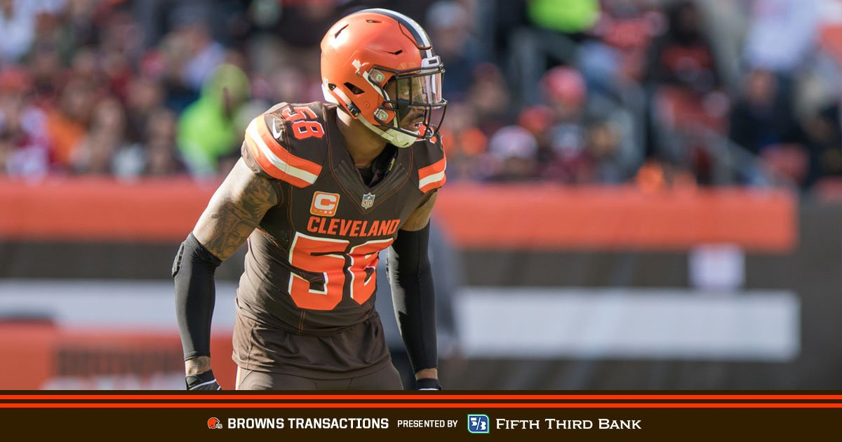 We've placed LB Christian Kirksey and DB E.J. Gaines on injured reserve  Transactions » https://t.co/zFSOpDuT9W https://t.co/JZ2s9jdByE