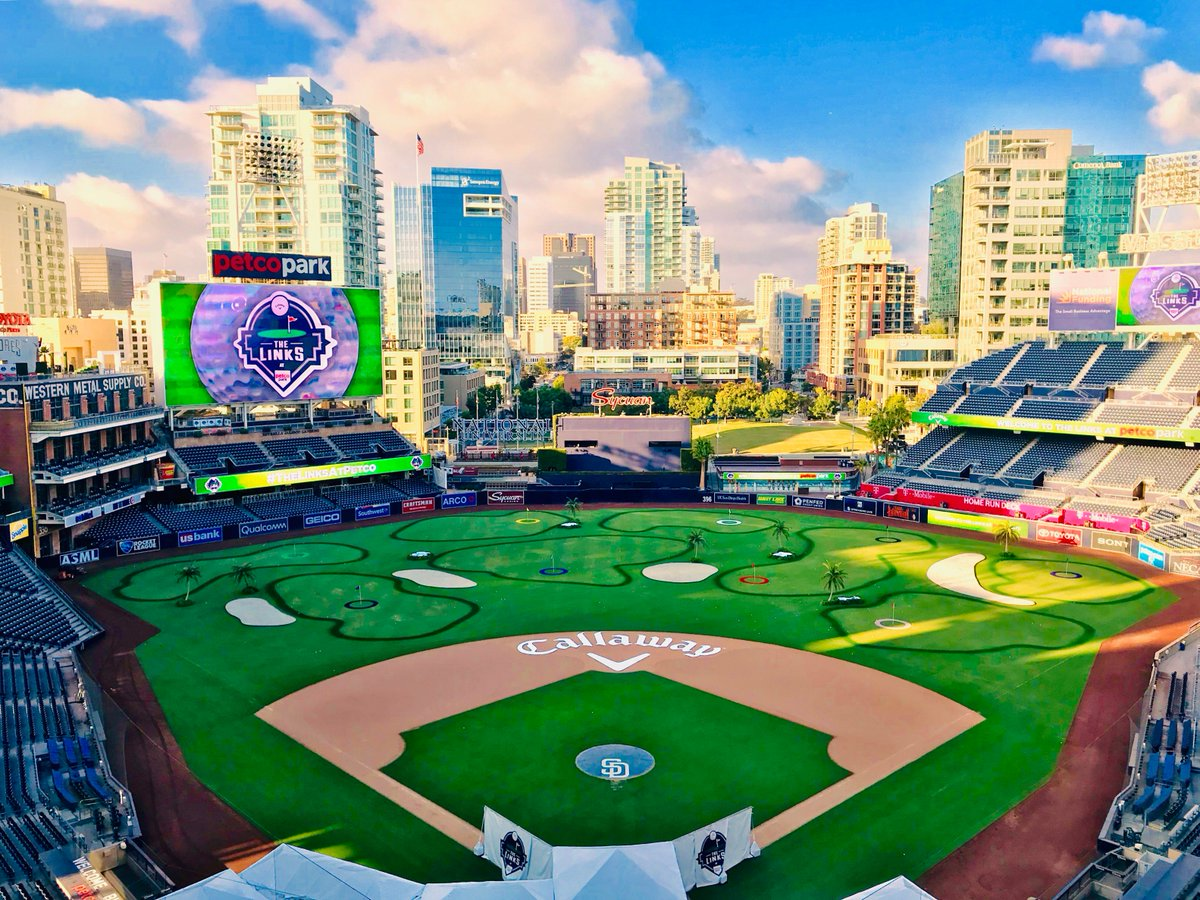 Play ball! 🏌️♂️⚾️ #TheLinksAtPetco is BACK. Who's coming out to play this week? 🙌