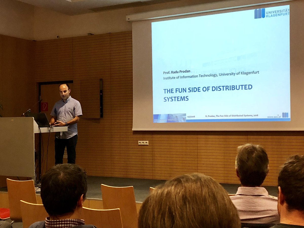 inaugural lecture of Radu Prodan