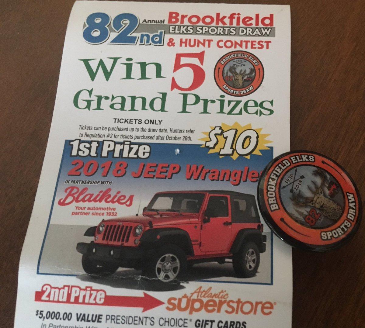Brookfield Elks Elksfastpitch Twitter Jeep Wrangler Draw 0 Replies 2 Retweets 7 Likes