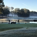 Image for the Tweet beginning: Finishing up at Pinehurst No.9.