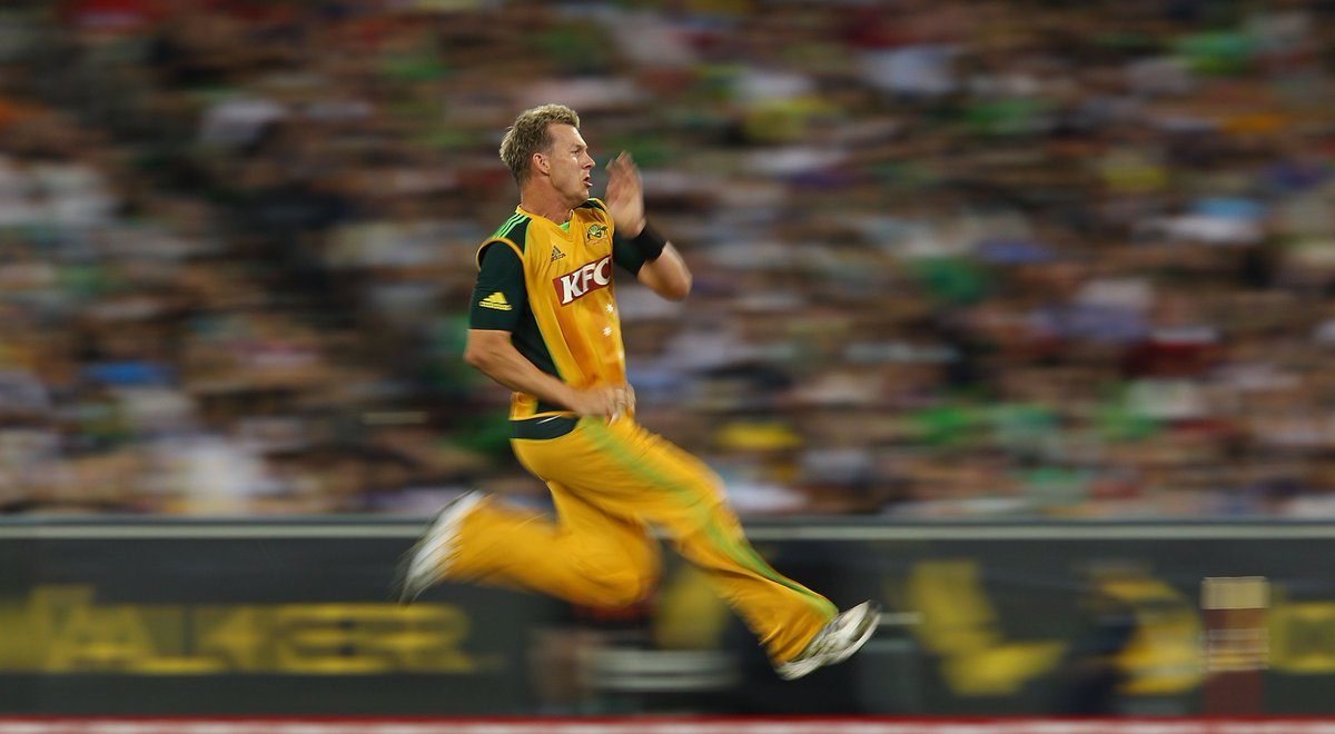 Happy birthday to @BrettLee_58!  Lee took 718 international wickets, was a @cricketworldcup winner and took the second most ODI wickets of any Australian ever 👏