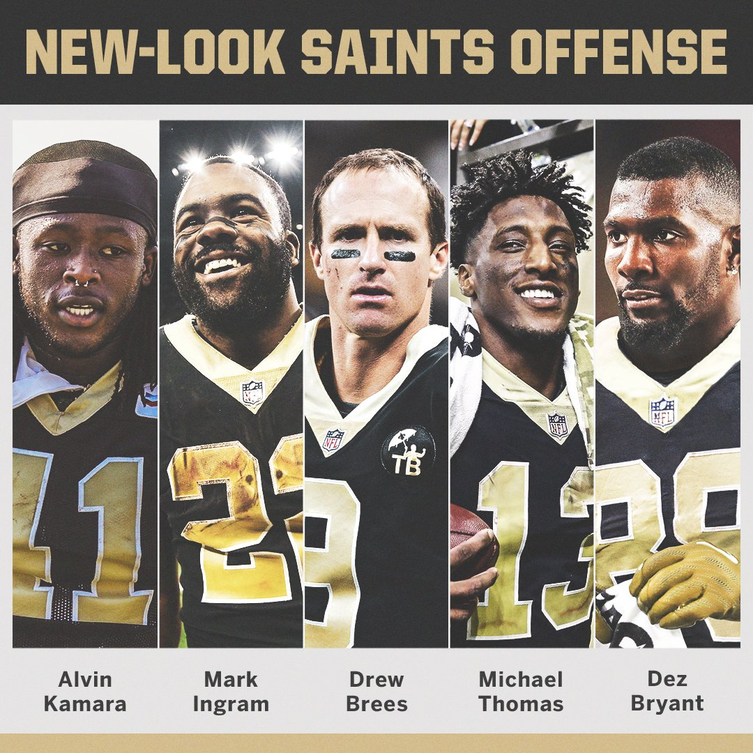 The Saints are 7-1 and just beat the only remaining undefeated team.  Now, they'll have Dez Bryant. https://t.co/9ef1vE3vPU
