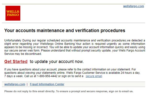 Malwarehunterteam On Twitter Two Wells Fargo Phishing Email Templates Seen Yesterday