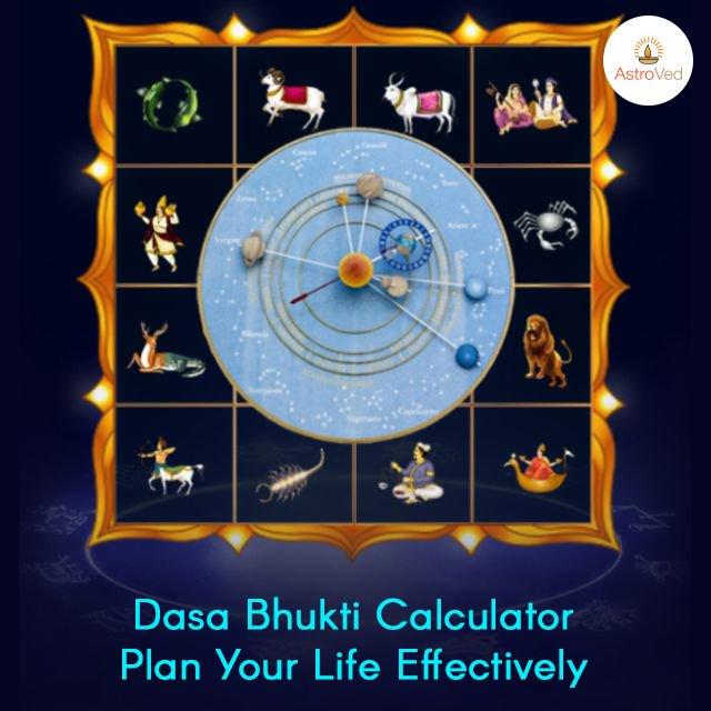 Dasa bhukti calculator and predictions