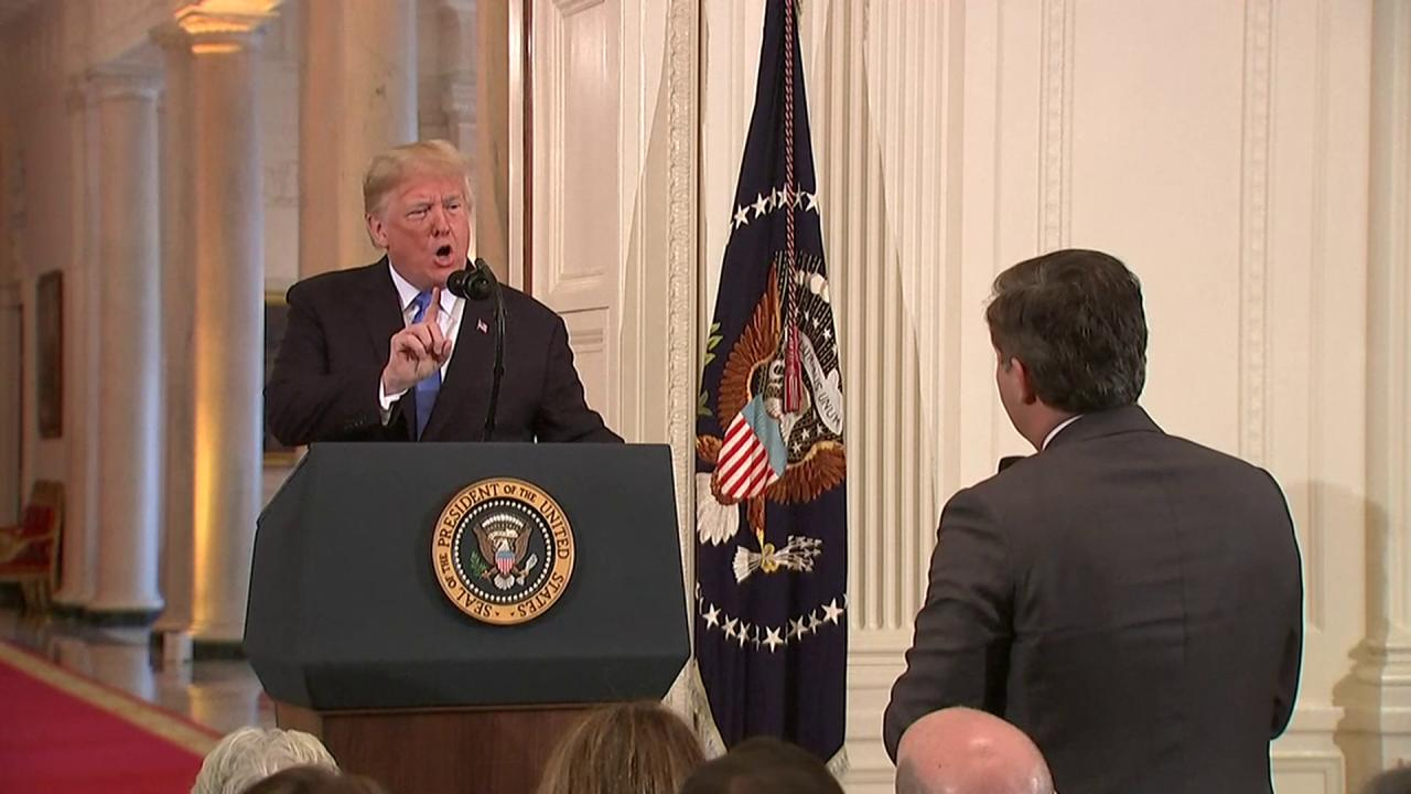 FULL EXCHANGE: Trump vs. @Acosta  'Put down the mic...' 'You are a rude, terrible person...' https://t.co/hdnNGd2xLc