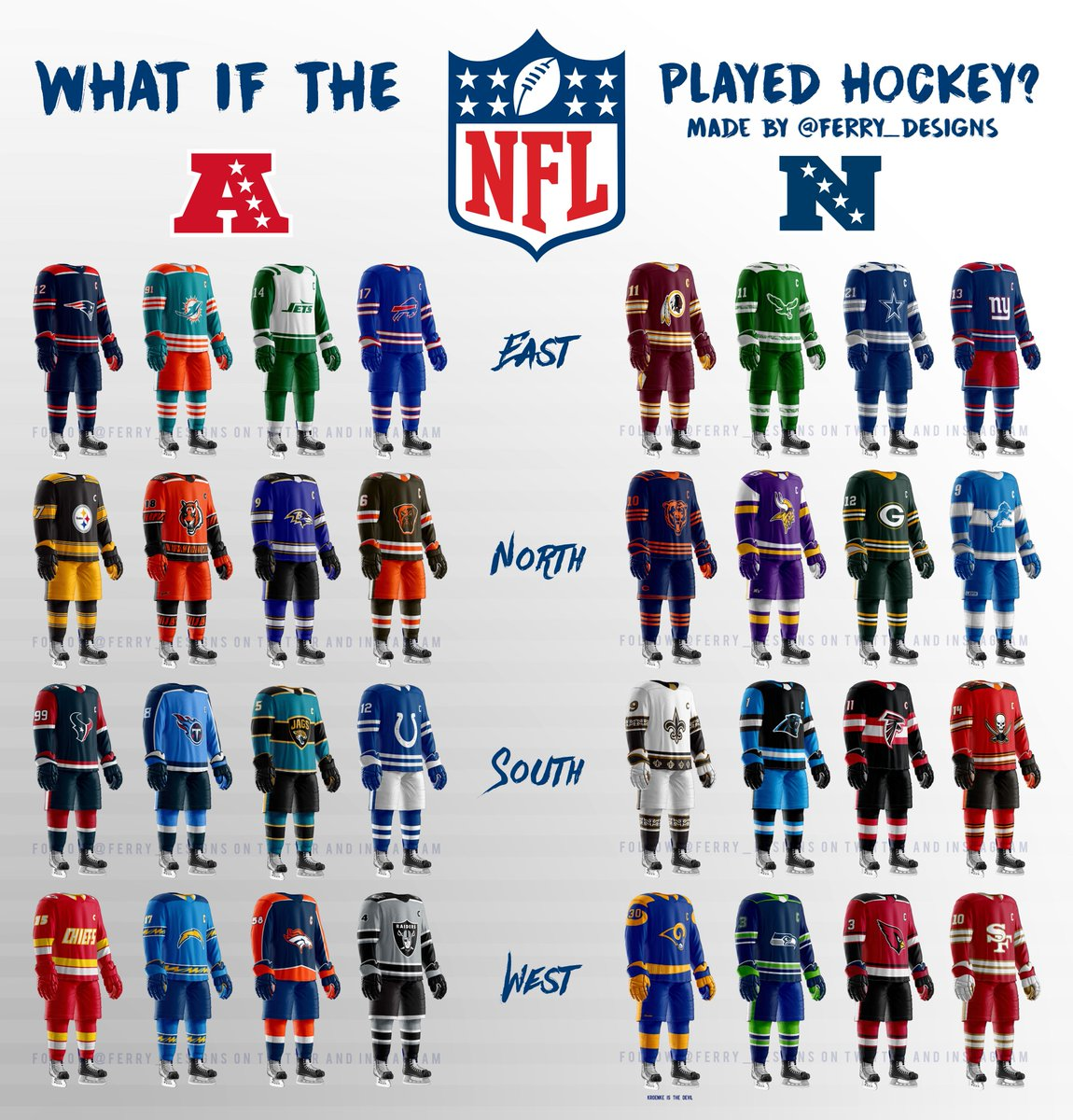 Feed Me Nfl: What If The NFL Played Hockey Instead? : Hockey