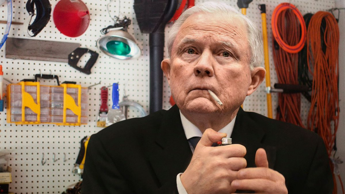Inconsolable Jeff Sessions Tries To Commit Suicide By Smoking Joint https://t.co/j95gIVJRbz