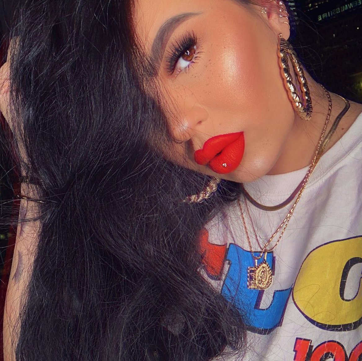 Sometimes all you need is a little MALICE 🙌🏽🔥 @ourfazinali wearing Everlasting Liquid Lipstick in Malice ❤️