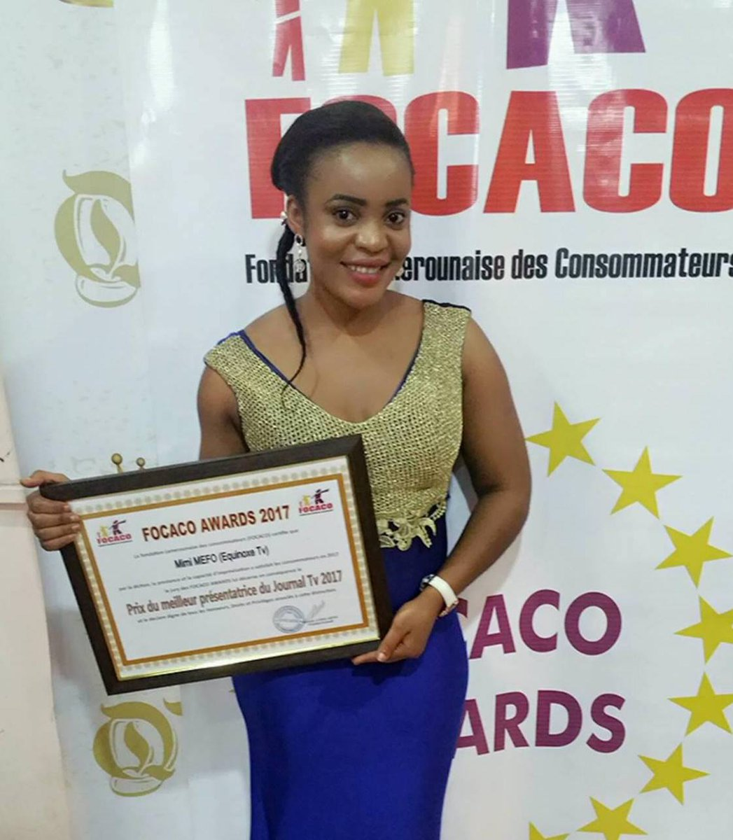 .@Mimimefo237 is an excellent presenter, well known for factual investigative journalism. Recently promoted as Editor In Chief for English Service at @EquinoxeTv_cm. Mimi has won several national awards as best female presenter. #FreeMimiMefo #Cameroon #Cameroun