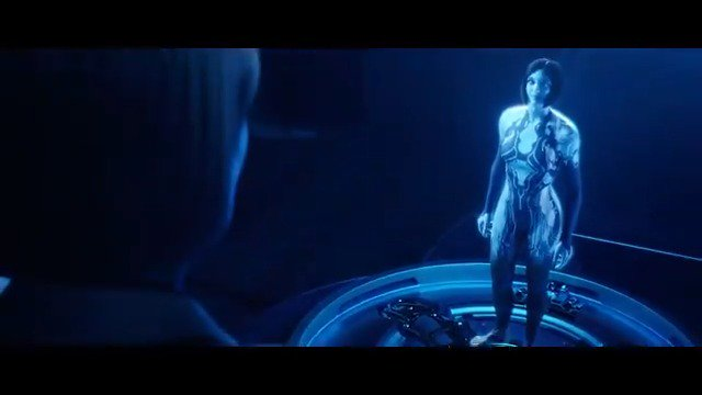 Keep your head down, theres two of us in here now. Remember? #TodayInHalo, 2549 – Cortana is created in the laboratory of Dr. Catherine Halsey on Reach.