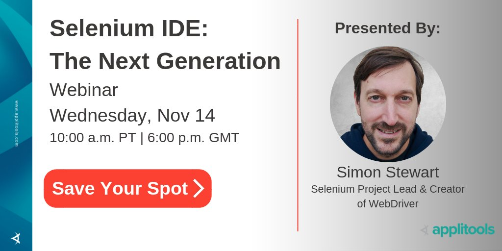 applitools on twitter save the date november 14 selenium