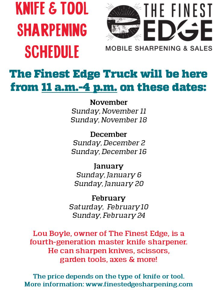 Truck Edge Mobile >> Weiland S Market On Twitter Get Your Knives Sharpened For