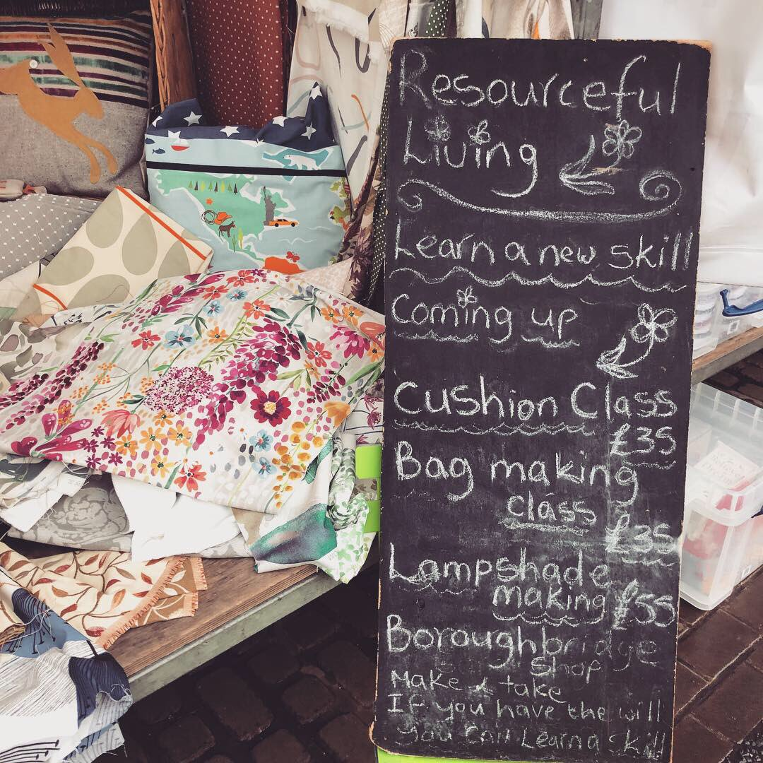 We LOVED this new 'Resourceful Living' stall that popped up for the first time on #Knaresborough market today! Wonderful fabric offcuts from the John Lewis factory (inc Orla Kiely & Scion prints ), perfect for making bunting or bags from. #resourcefulliving #loveyourmarketpic.twitter.com/rLFskQqYu1