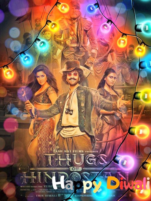 @aamir_khan For a moment I thought he is writing a farewell speech, bcoz I have never seen him writing and thanking his team with this details ... looking forward to watching #ThugsOfHindostan sir ... happy diwali to u sir ... Photo