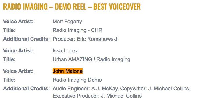Eric Voice Demo