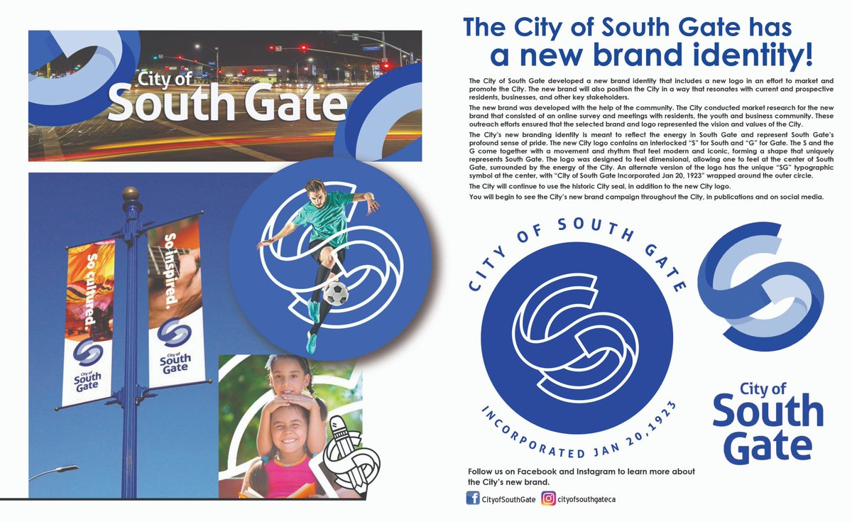 City Of South Gate >> The City Of South Gate Developed A New Brand Identity That