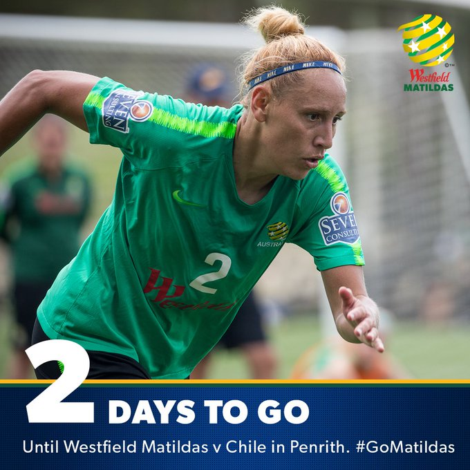 We're just TWO days away now! 😍 #GoMatildas #AUSvCHI Photo