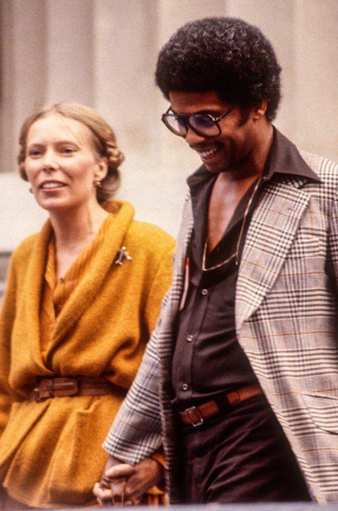 Happy Birthday Joni Mitchell [born November 7, 1943]pictured here with Herbie Hancock [1978] by Ed Perlstein