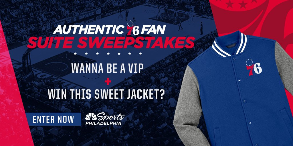 58c7db526ec Want this sweet jacket and some free balcony suite tickets to our Sixers  Authentic Fan night series  Peep the link for your one-time entry ...