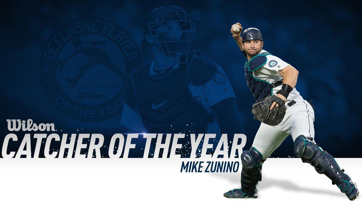 Mike Zunino has been named @wilsonballglove Defensive Player of the Year at catcher. #Mariners Read: atmlb.com/2DsHKLJ