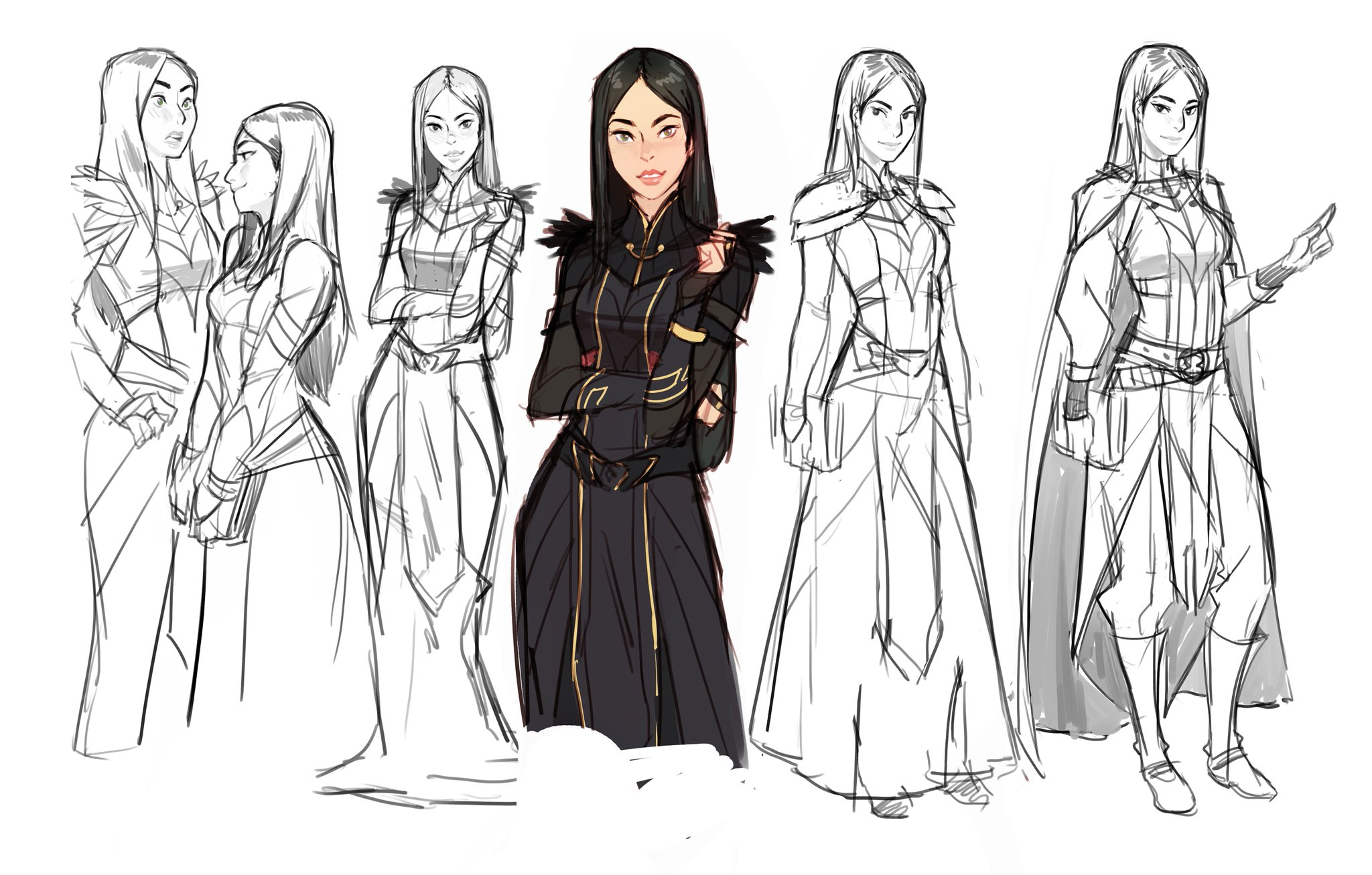 The Dragon Prince On Twitter Some Of Our Early Callum Rayla And Claudia Concepts By Ctchrysler Thedragonprince