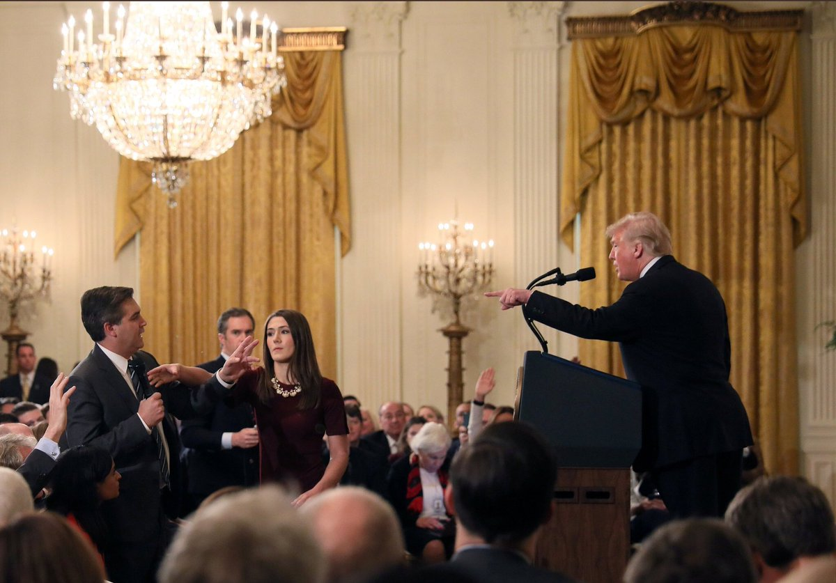 Trump's attack on 's Jim Acosta is an attack on the right of all journalists everywhere to ask tough questions of people in power. That's our job