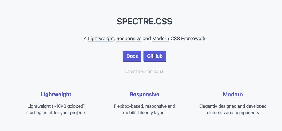 Spectre css (@spectrecss) | Twitter
