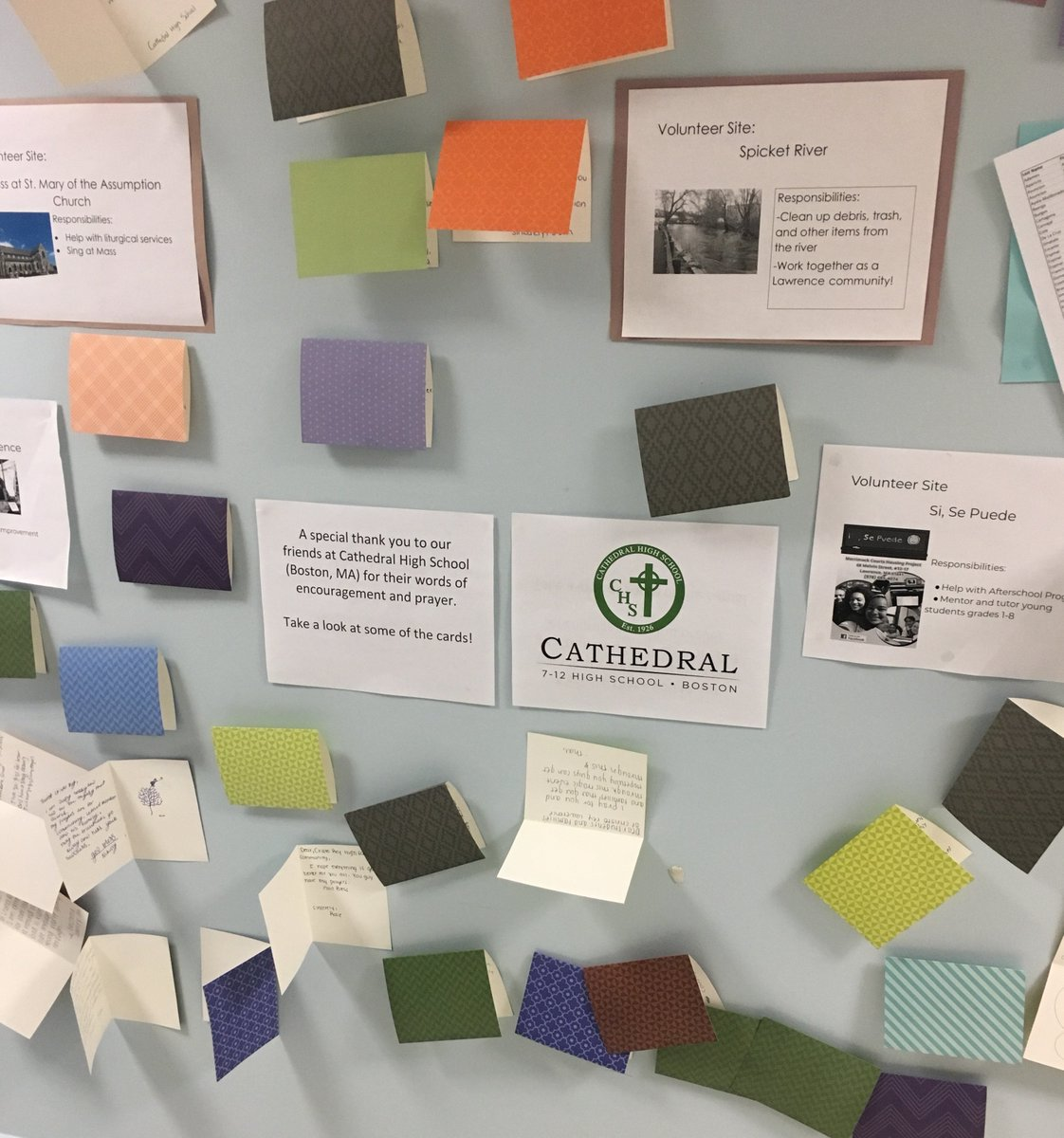 test Twitter Media - Cathedral High School's gift of support to the students of Notre Dame Cristo Rey in Lawrence #actOFkindness @CHSBoston @ndcrhs @CSOboston https://t.co/91e4xTYX1f