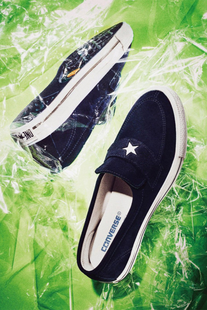 5ab0ec67b94a star motif suede slip ons the converse one star loafer is exclusive to  japan markets