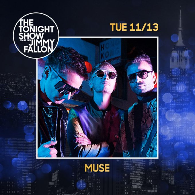 TV ALERT: Muse are performing on The Tonight Show Starring Jimmy Fallon on Tuesday 13 November at 11:35p/10:35c @fallontonight #SimulationTheory Photo