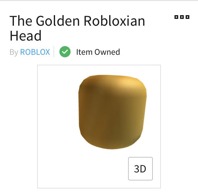 Roblox Notifier On Twitter Hat Updated The Golden Robloxian Head Https T Co 8q364rgqty
