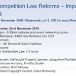 #LESANZEvent 22nd November Seminar #IP and Competition Law Reforms – Impacts on IP #Licensing - Over 20 reforms directly impact IP licensing. This seminar summarises the changes in the context of licensing practice hosted by @WatermarkIP  https://t.co/XIPUPcd03c