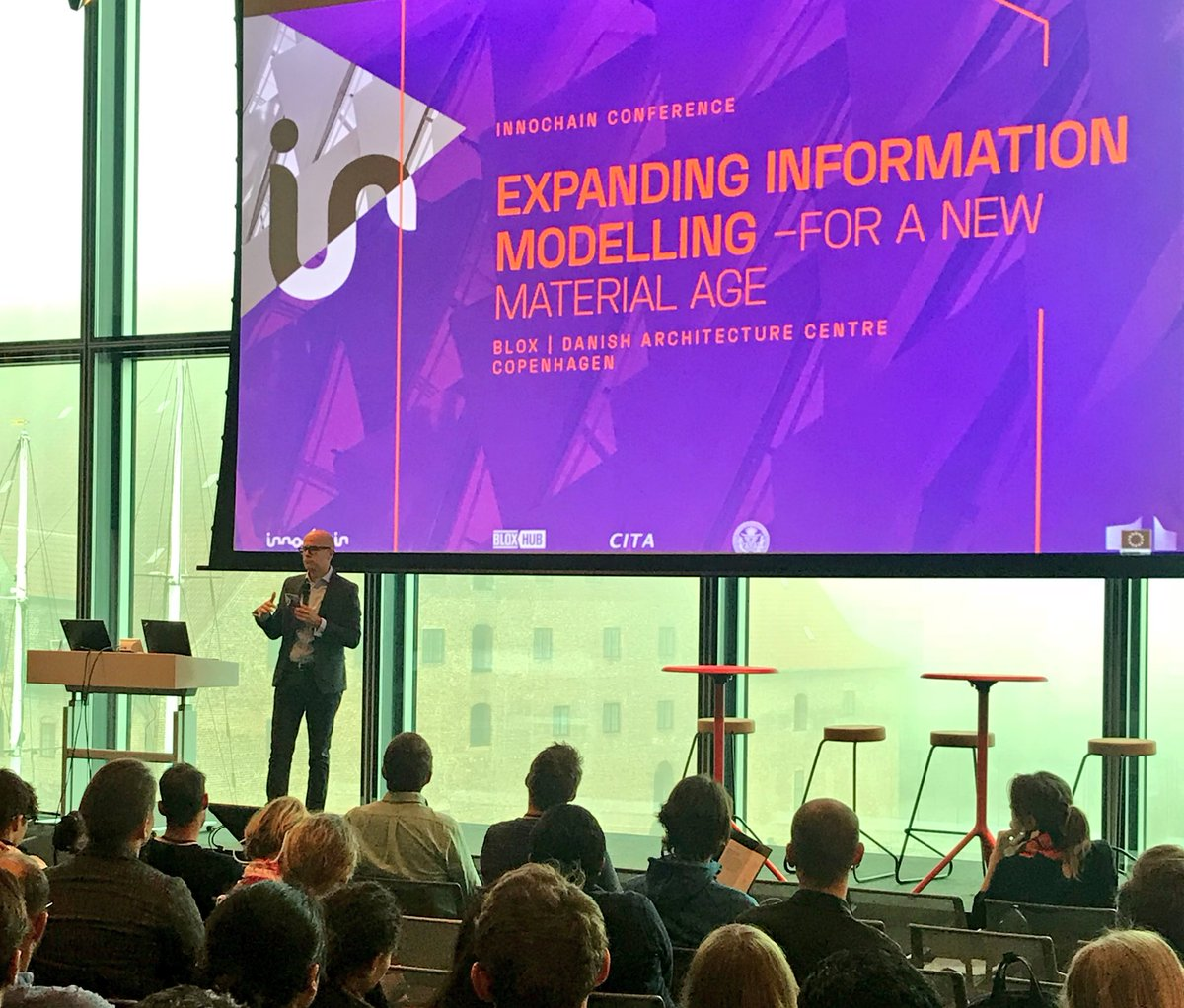 The @inno_chain conference is on! 'Expanding Information Modelling - for a new material age'#cita #kadk