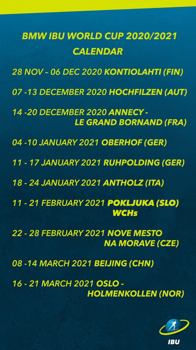 World Cup 2020 Calendar.Ibu World Cup On Twitter In Case You Missed It Last Night The Ibu
