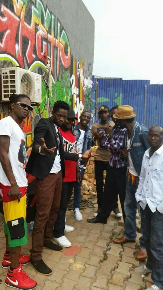 #TBT Memories of the Ghetto President. This picture is us in the ghetto years back alongside Radio & Weasel. Rest in Peace Moze, am sure u would be one gearing to hit One Love Beach Busaabala this weekend. Kyarenga this weekend Busaaabaaala Lets support