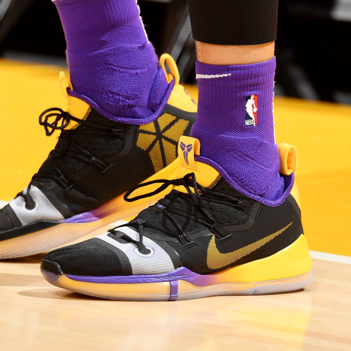 kylekuzma wearing a Nike Kobe A.D. PE