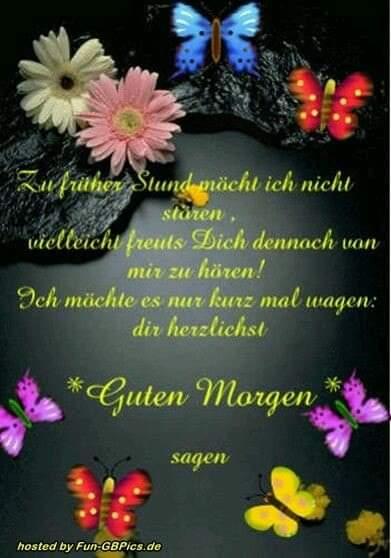 Marion Fuchs على تويتر Guten Morgen Und Einen Schönen